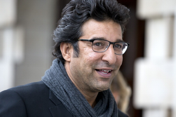 Wasim Akram shot
