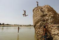 Baghdad Tigris River heatwave