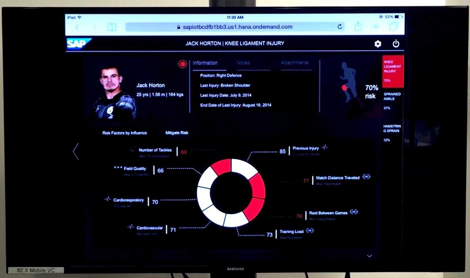 SAP Injury Risk Monitor