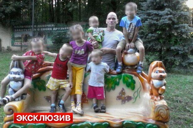 Oleg Belov and his murdered family.