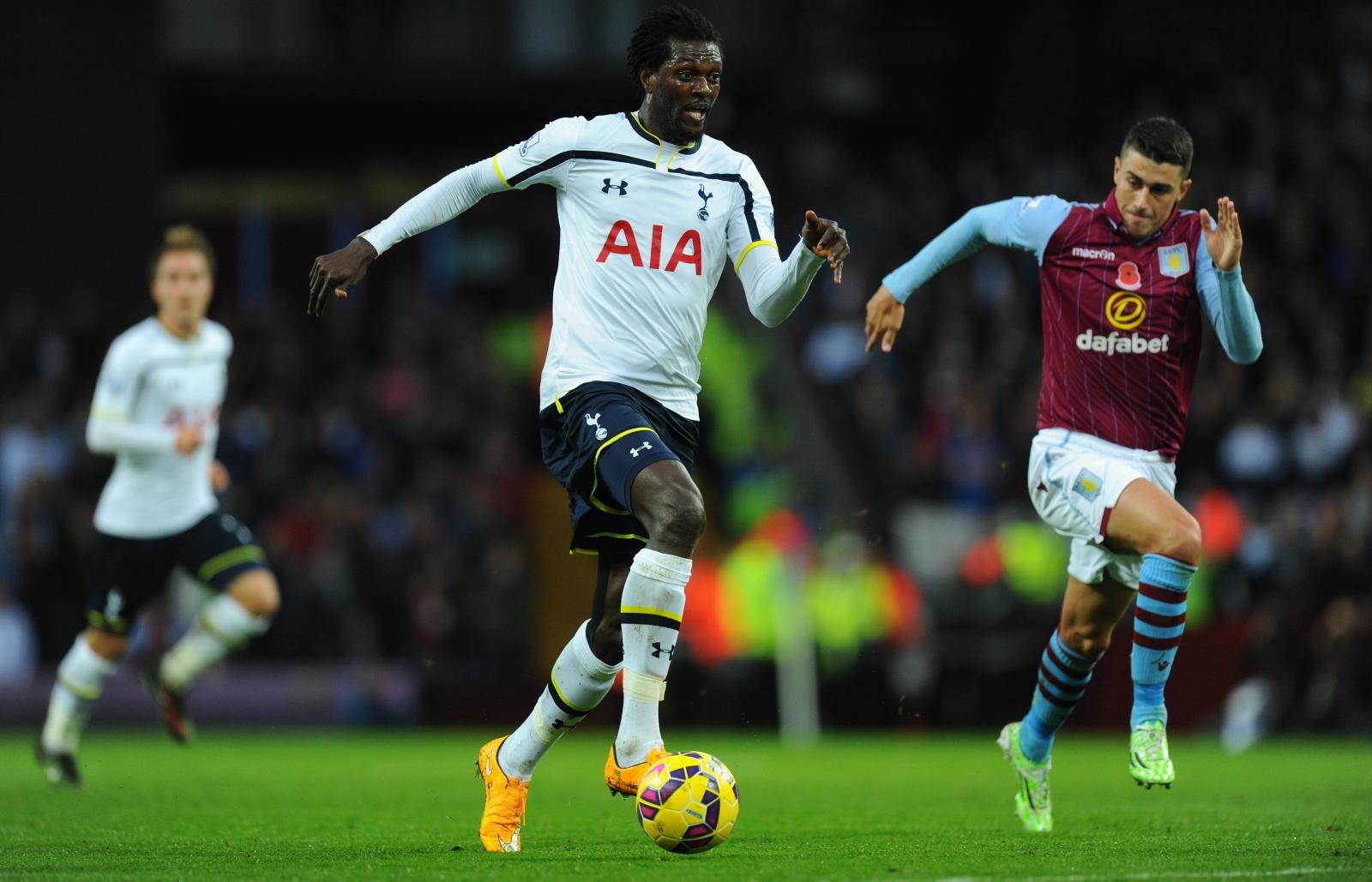Emmanuel Adebayor Tottenham Hotspur Aston Villa