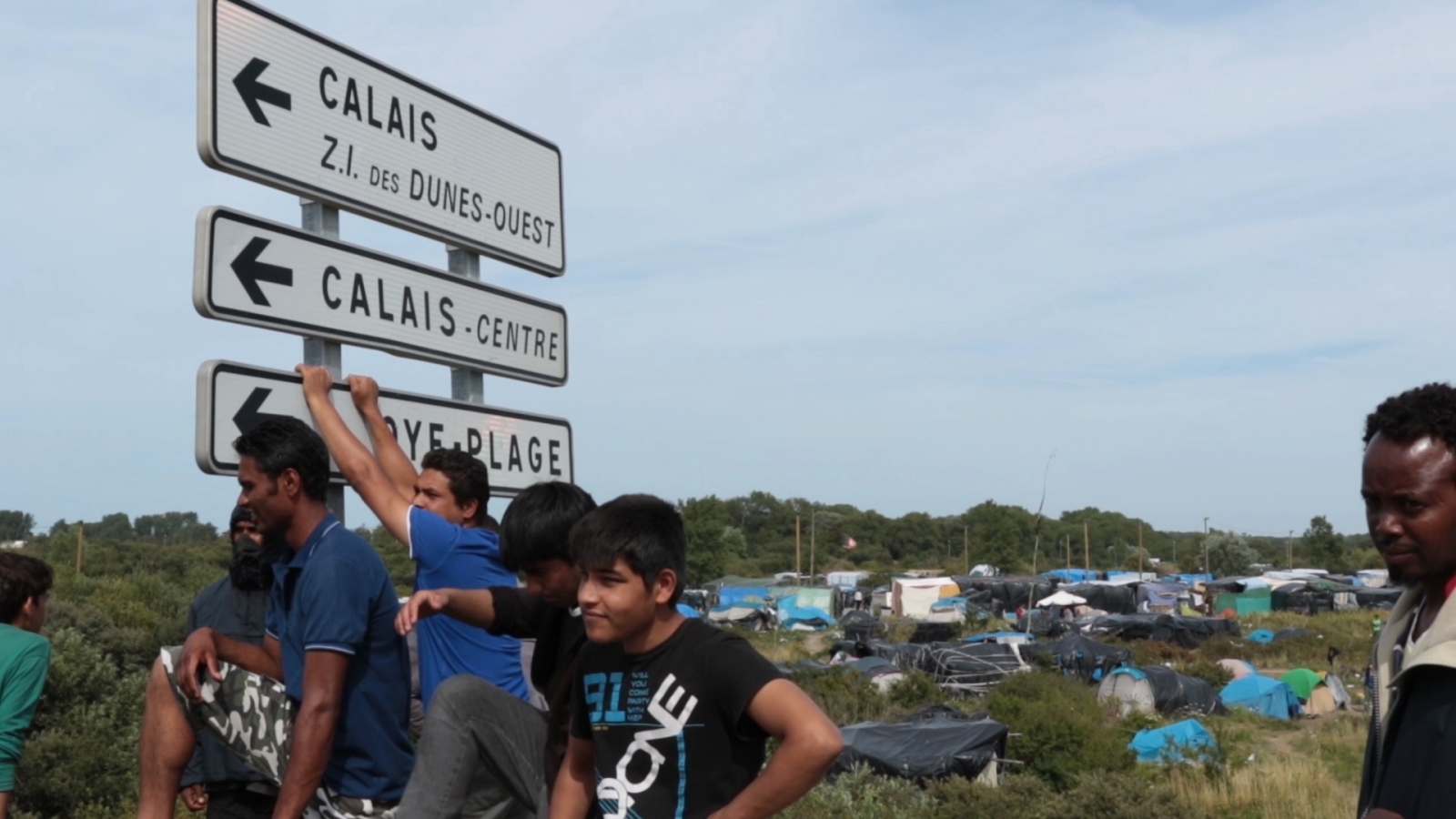 Migrant camps in Calais