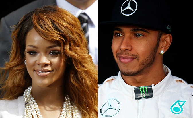Rihanna and Lewis Hamilton