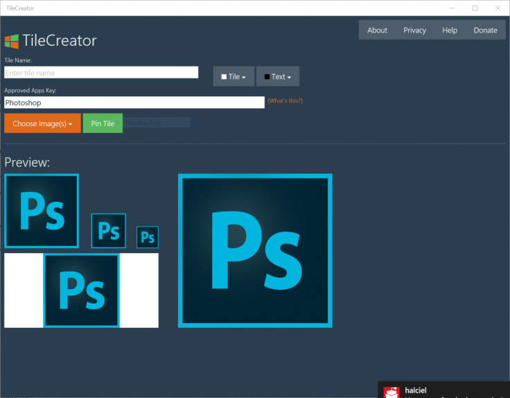 Windows 10 TileCreator