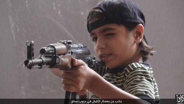 Syrian child soldier