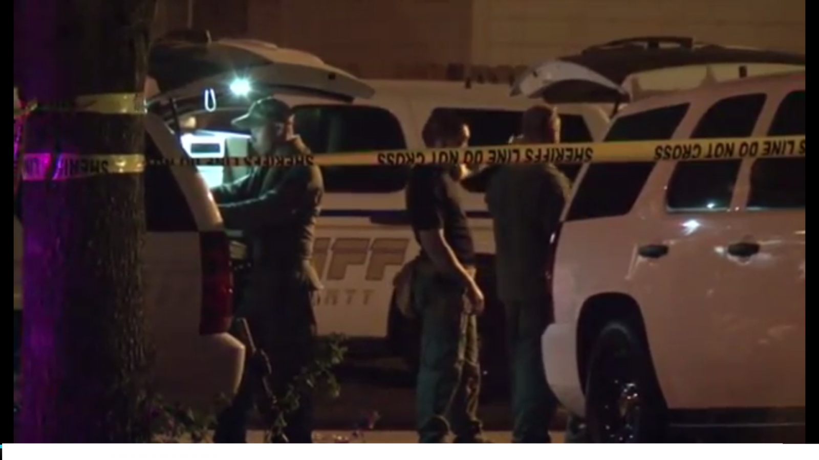 Police outside the Houston home