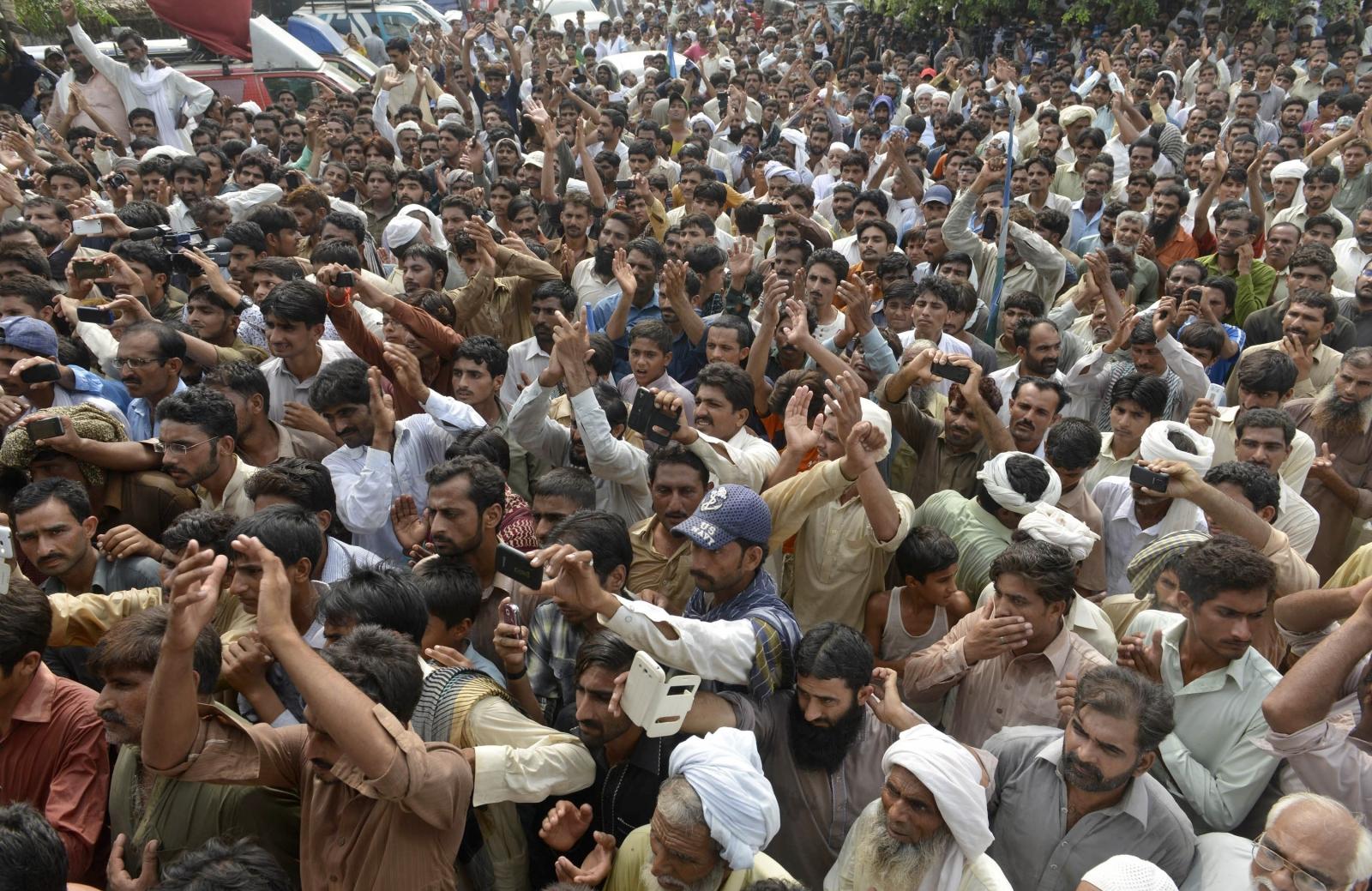 Villagers in Hussain Khanwala village,