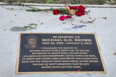 Ferguson anniversary police shot man