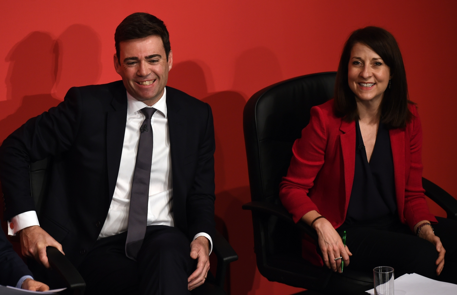Andy Burnham and Liz Kendall