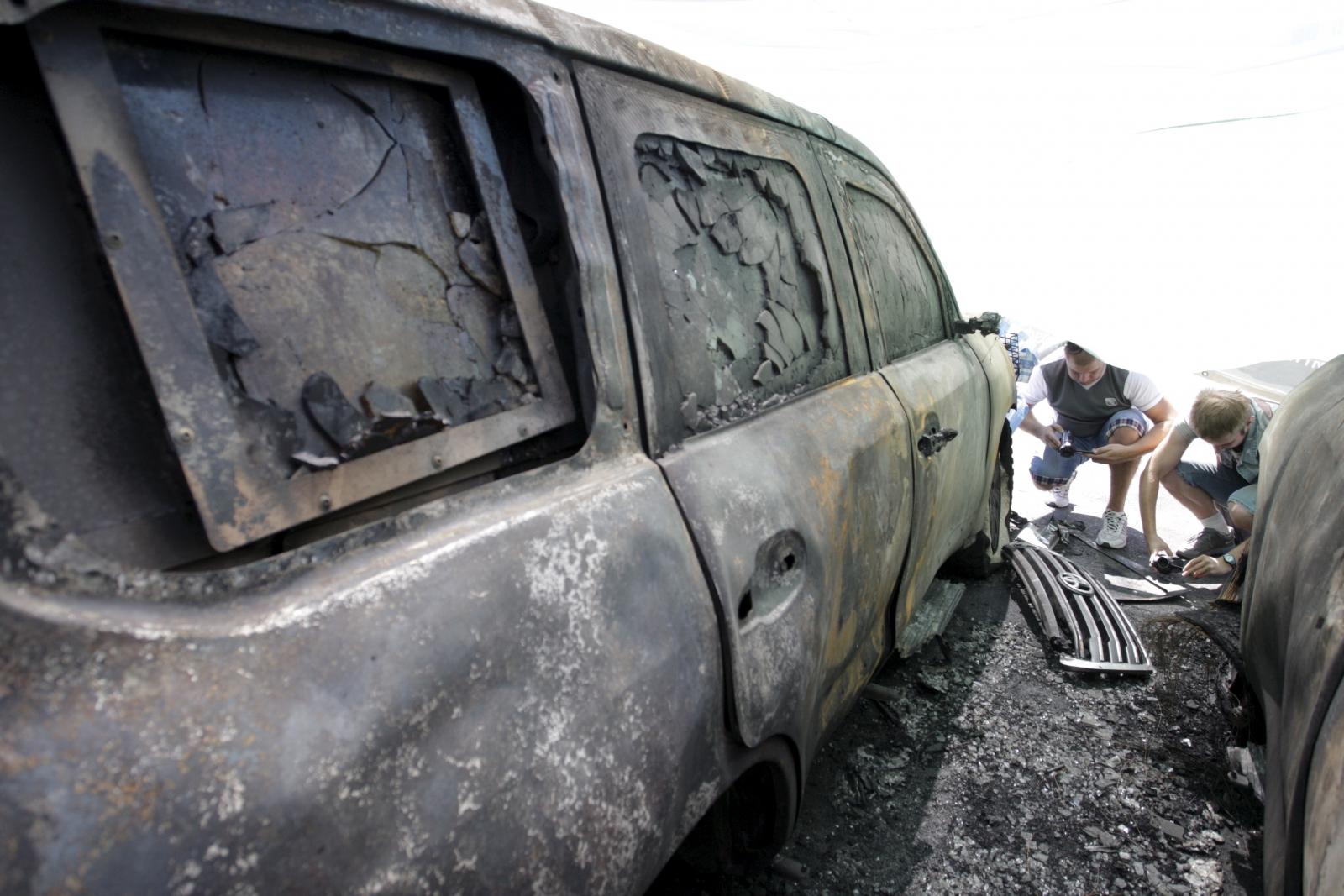 OSCE Donetsk arson