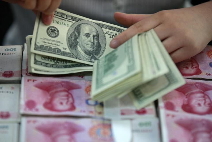 US dollar & Chinese yuan bank notes