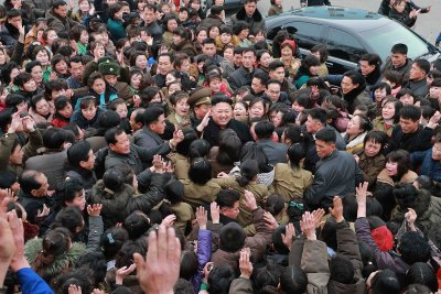 Kim Jong-un: Photos of North Korean leader surrounded by ...