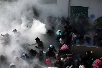 migrants Greece kos police brutality