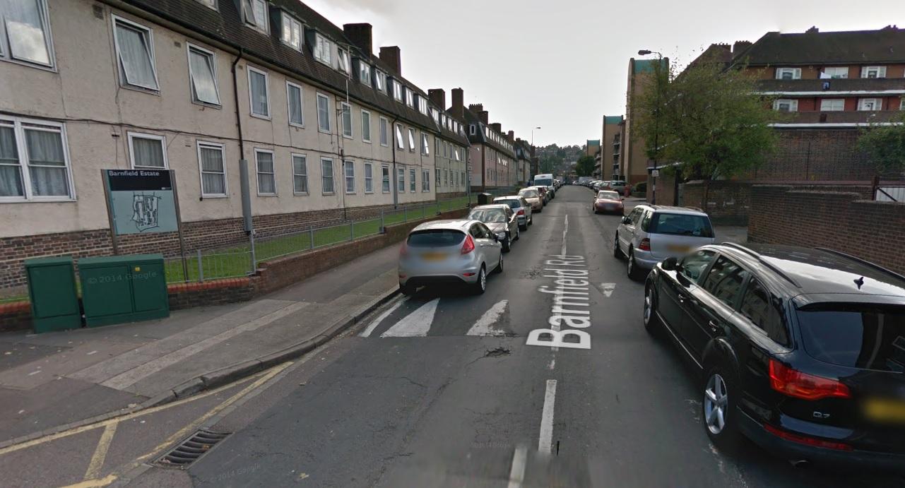 Barnfield Road in Plumstead