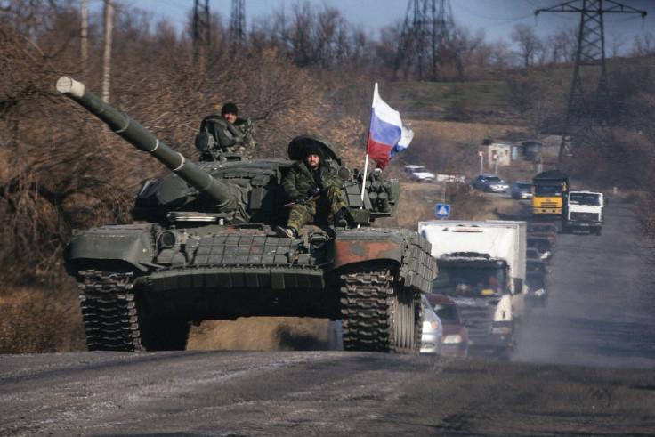 Pro Russian forces in Lugansk, east Ukraine