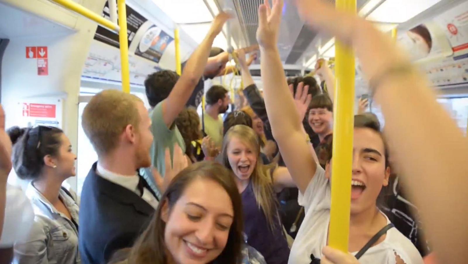 London Underground dance party
