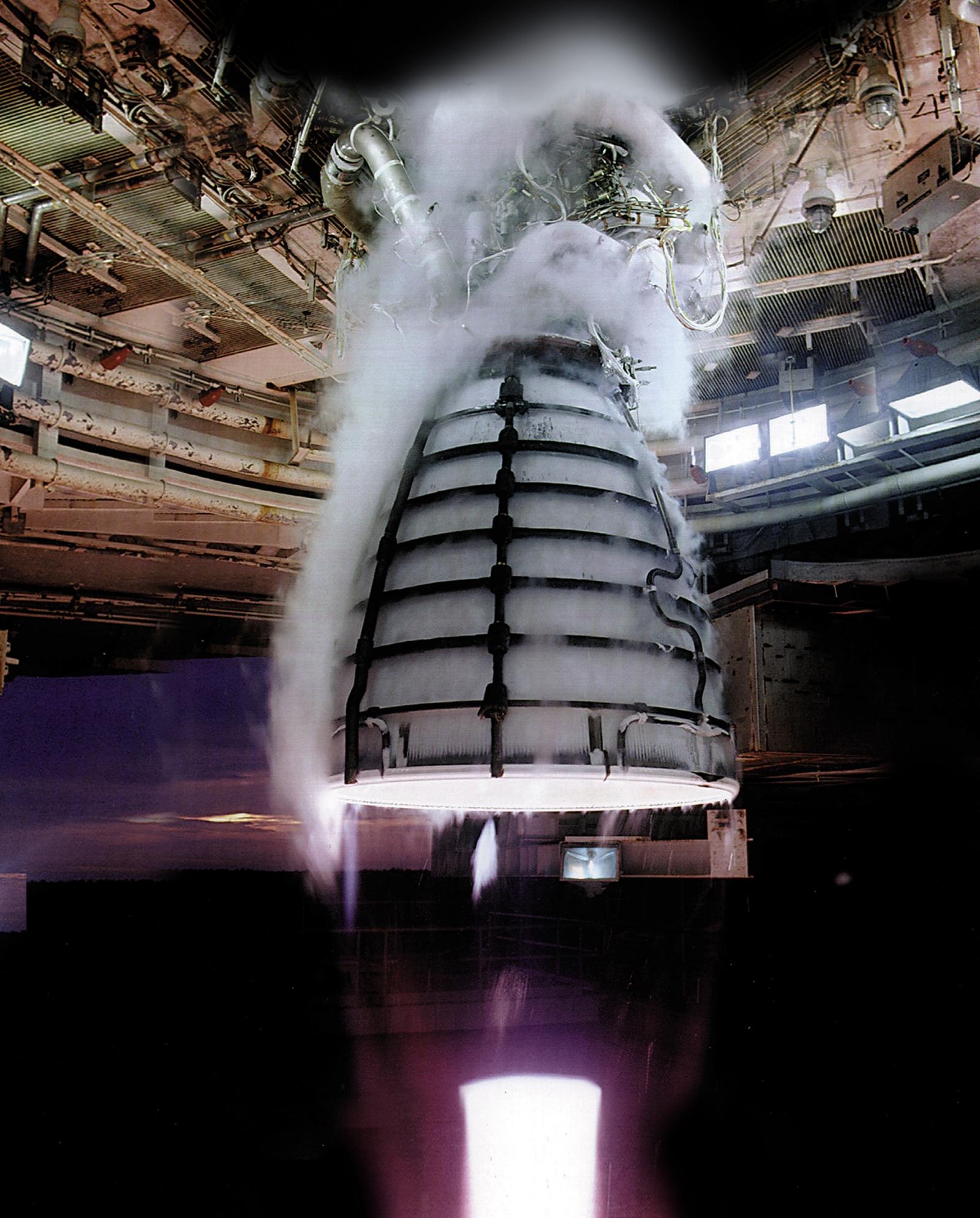 Nasa RS-25 engine SLS