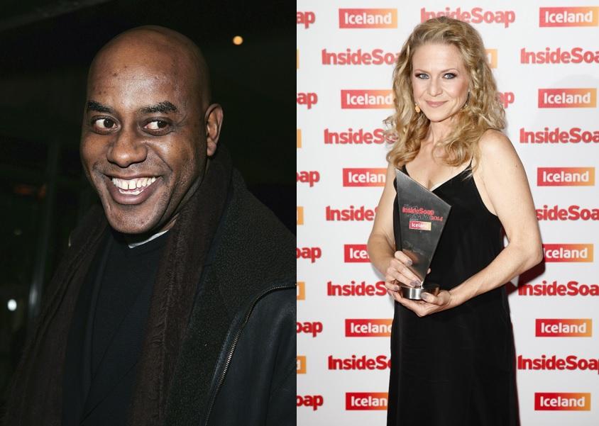 Ainsley Harriott and Kellie Bright