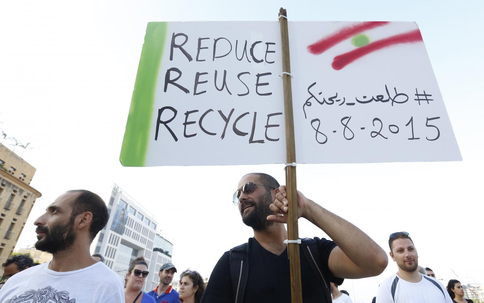 Beirut waste demo Lebanon