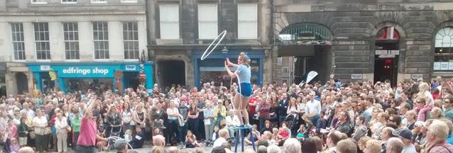 Edinburgh fringe hula hoop