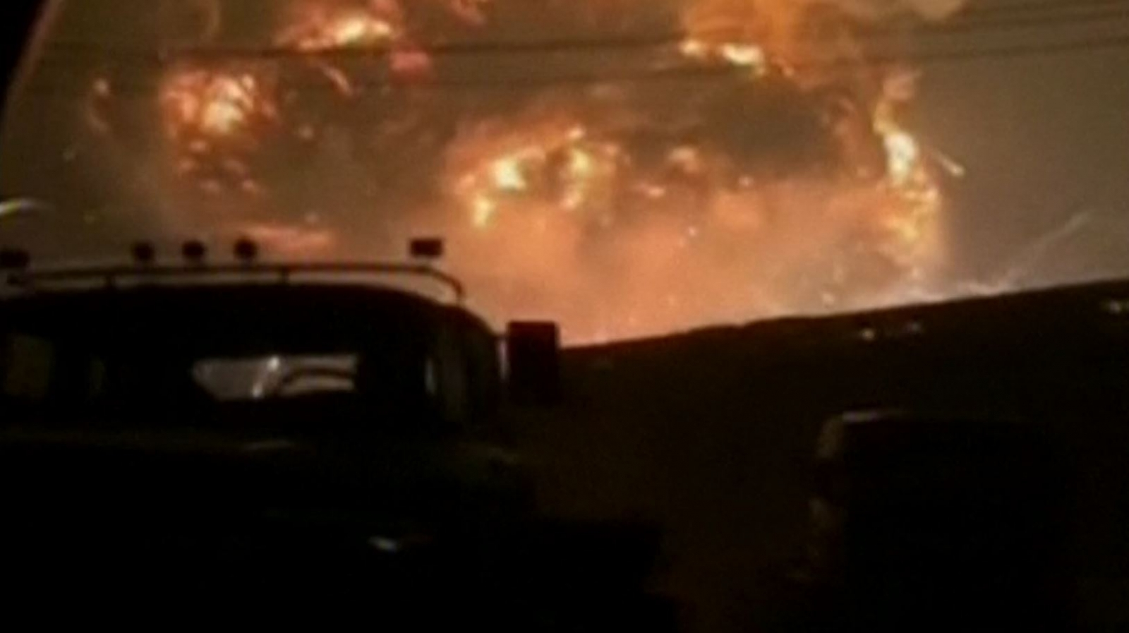 China TIANJIN factory explosion amateur footage