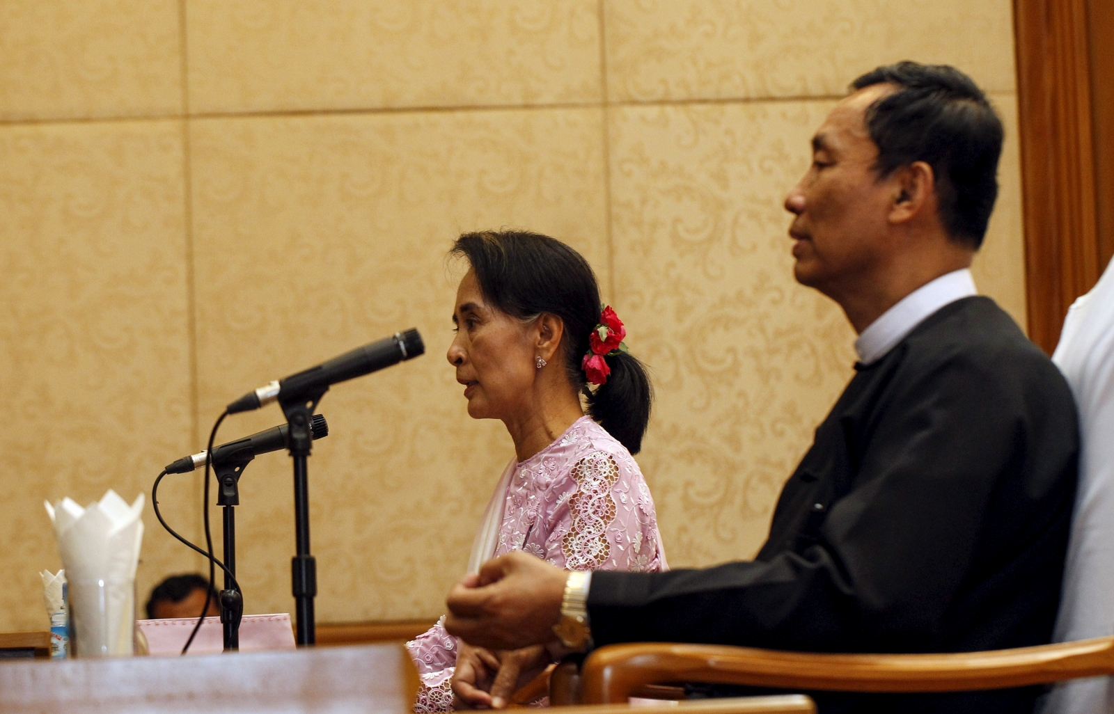 Aung San Suu Kyi & Shwe Mann