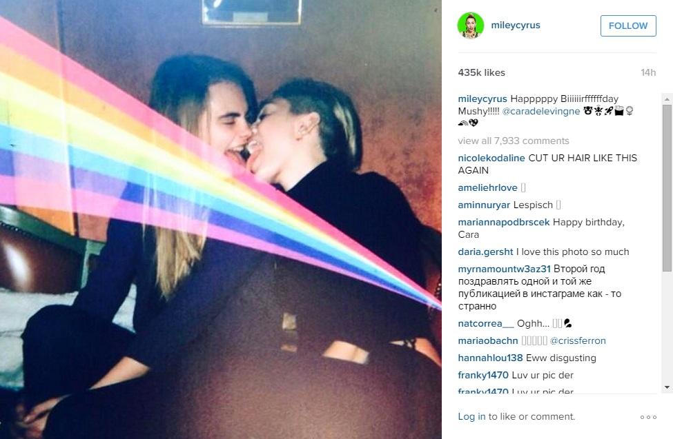 Miley Cyrus and Cara Delevingne