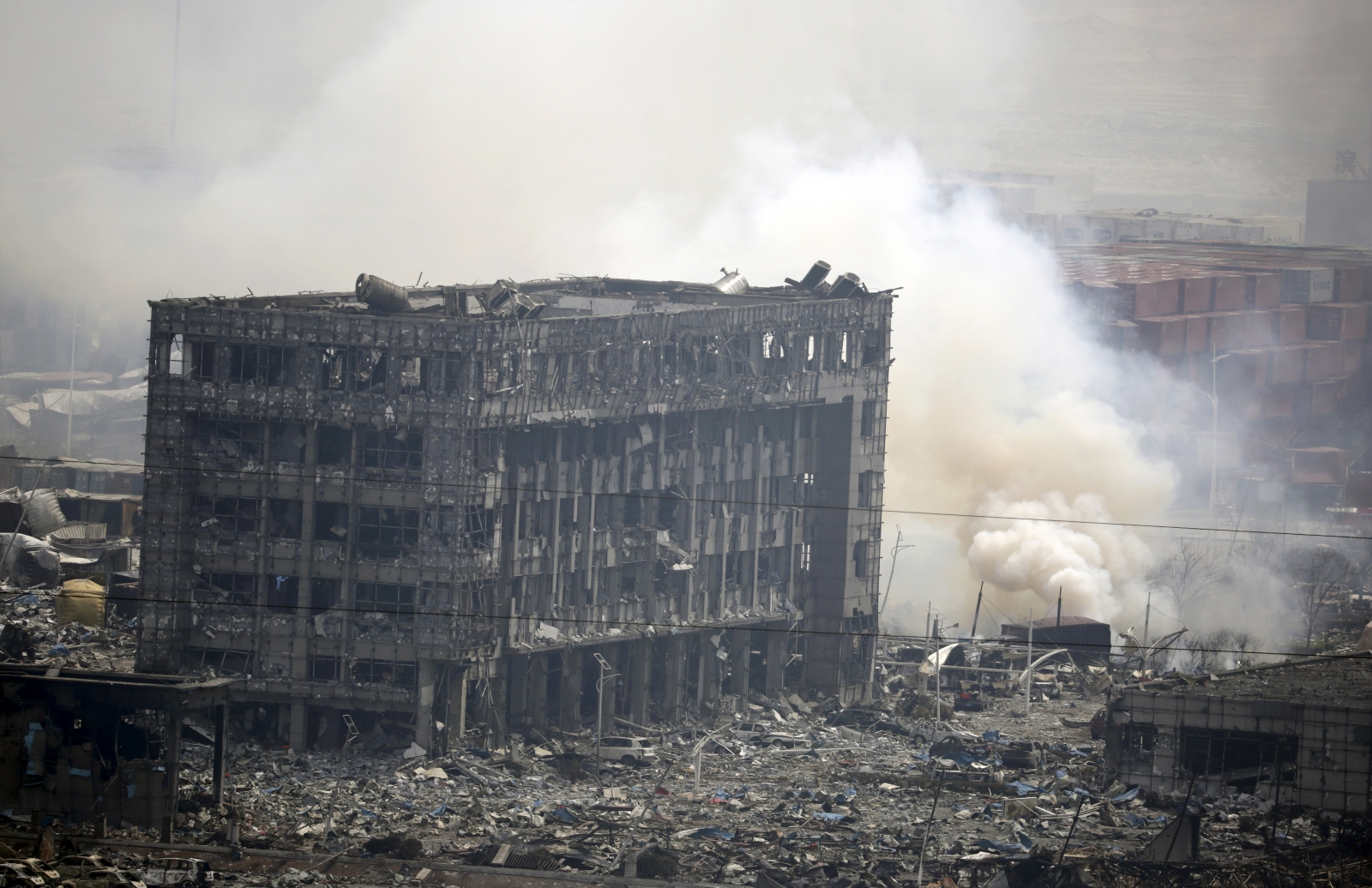China Tianjin blast toxic pollutants