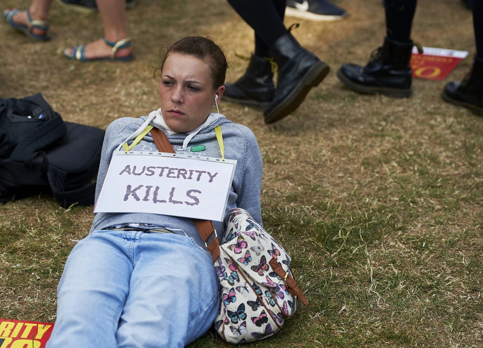 Anti-austerity protestor