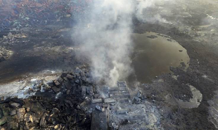 China Tianjin port explosion aerial photo