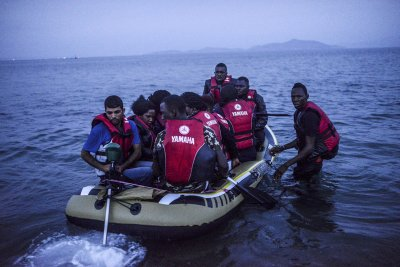 Migrants Kos Turkey dinghies