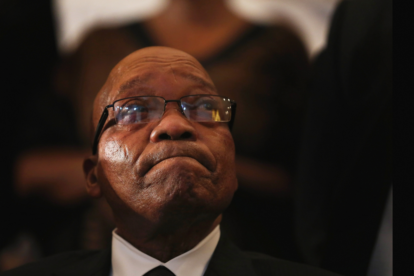 Jacob Zuma crying