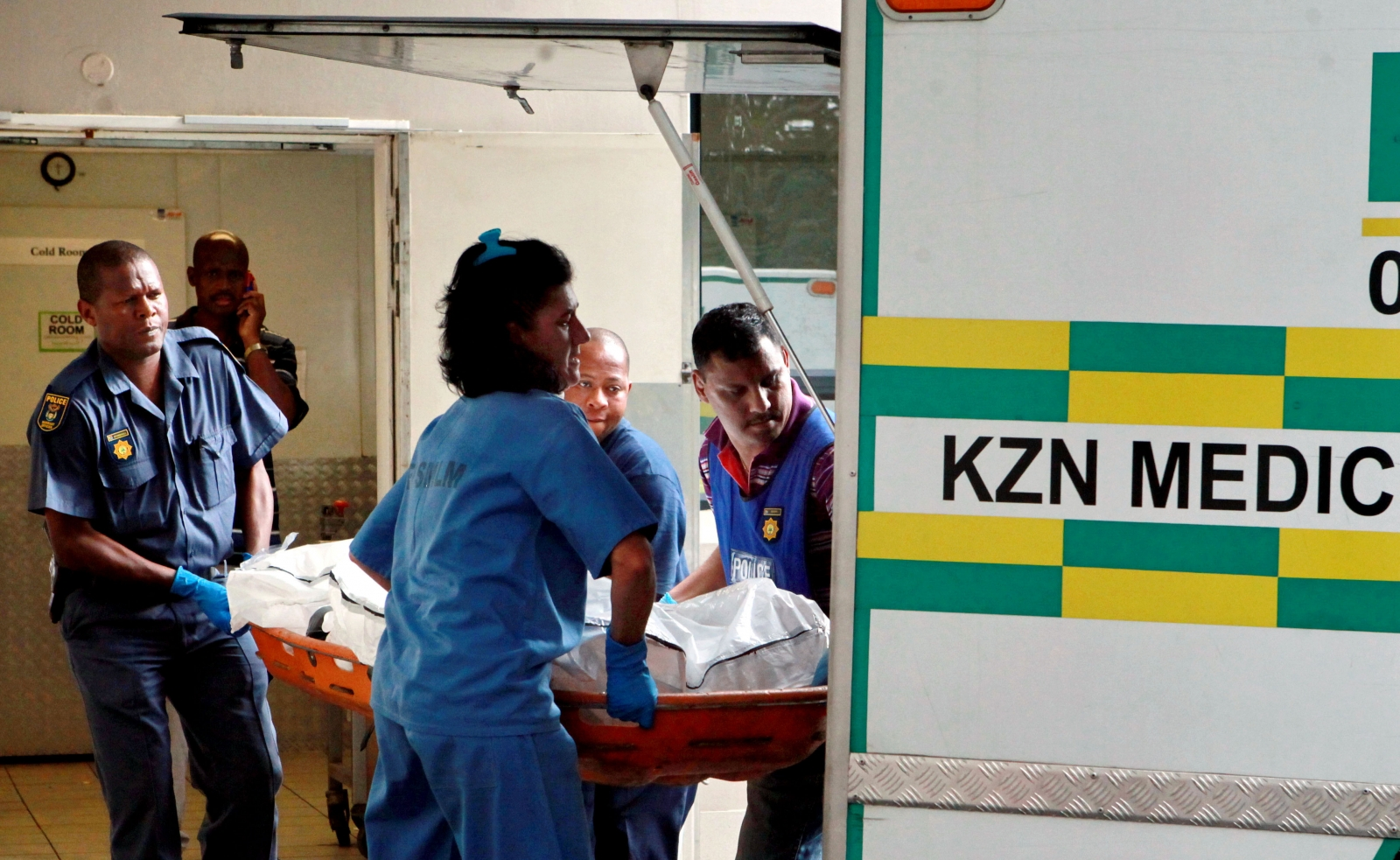 Ambulance team in South Africa