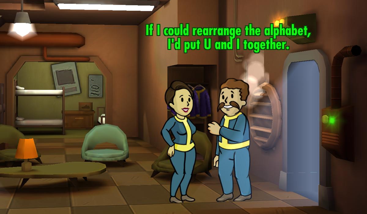 Fallout Shelter Romance Pick-Up Line