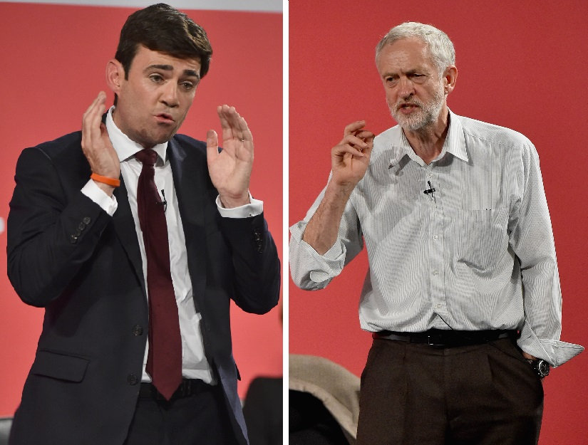 Andy Burnham and Jeremy Corbyn