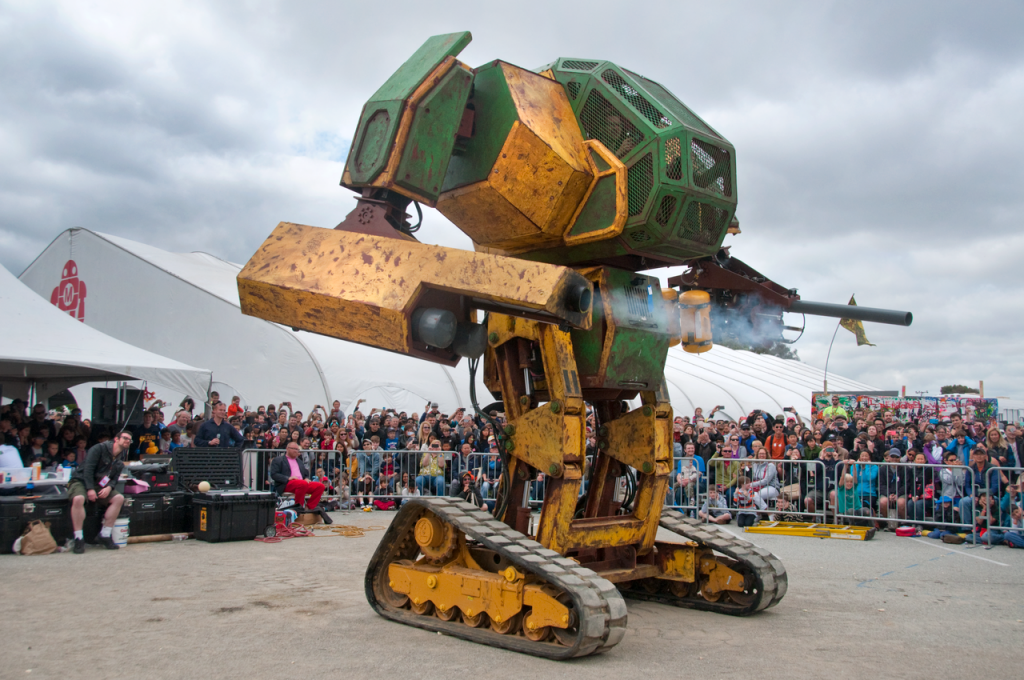The current MegaBots Mark 2 giant robot