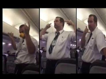 WestJet flight crew member