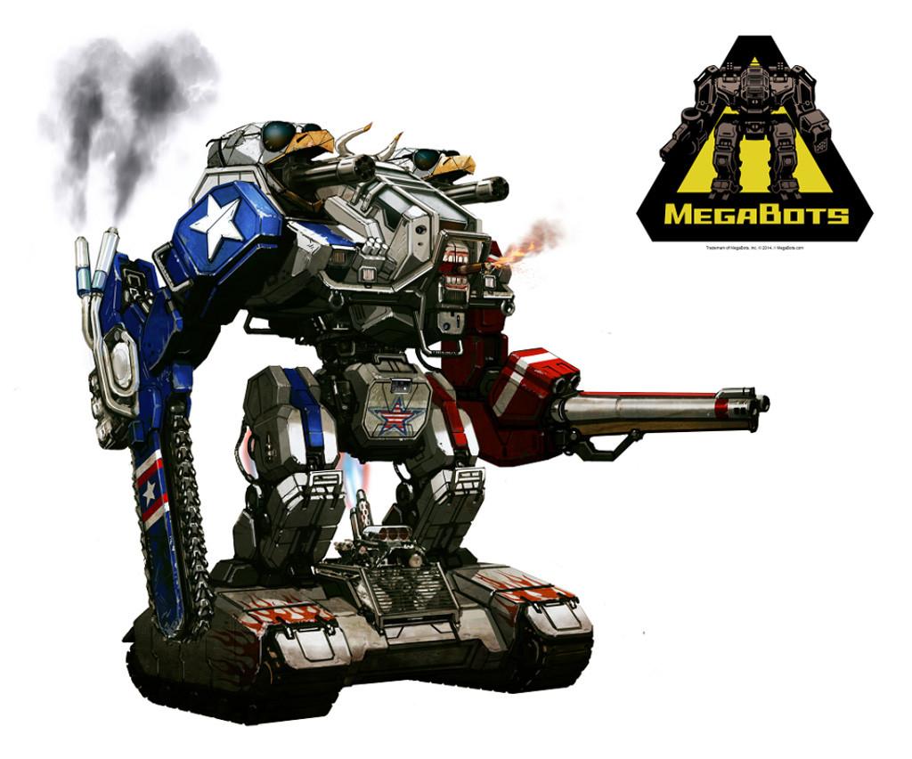 Concept art for improved MegaBots Mark 2