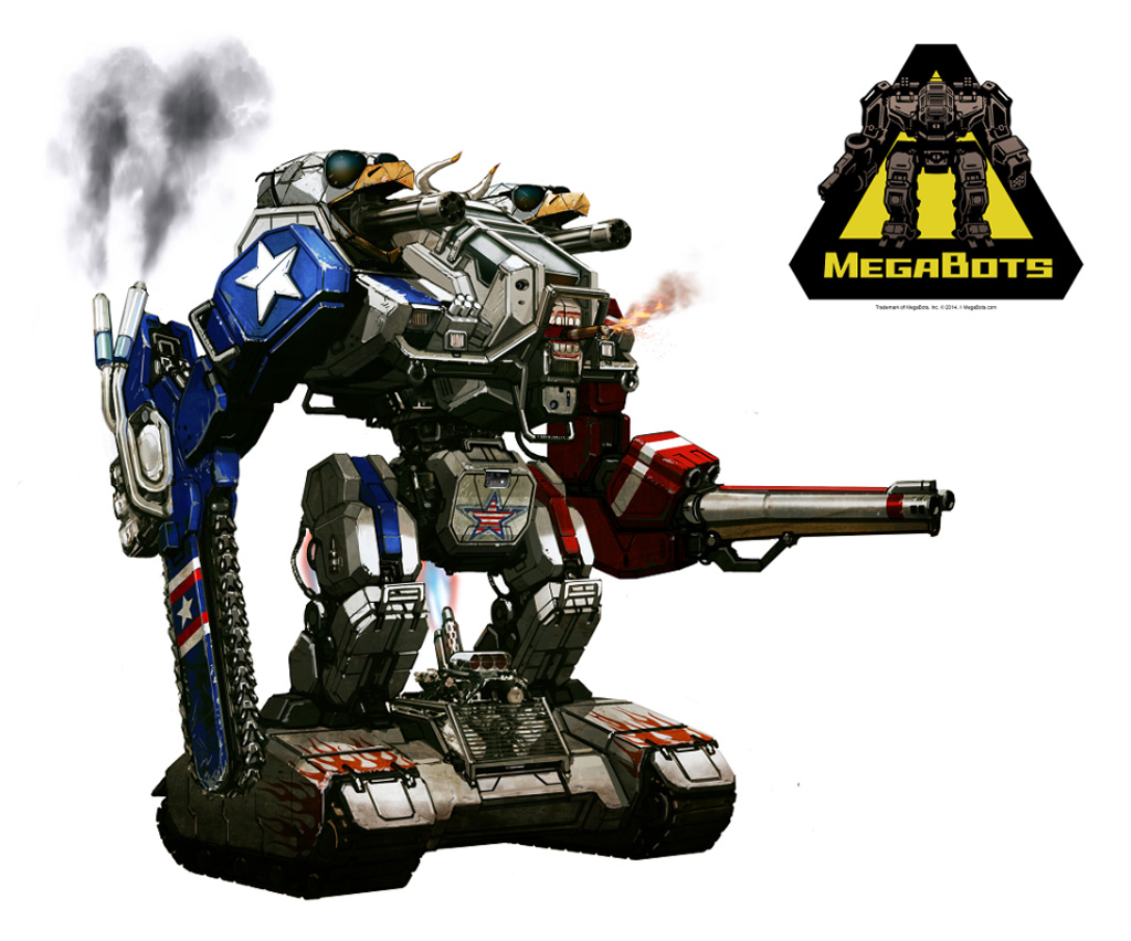 Concept art for improved MegaBots Mark 2