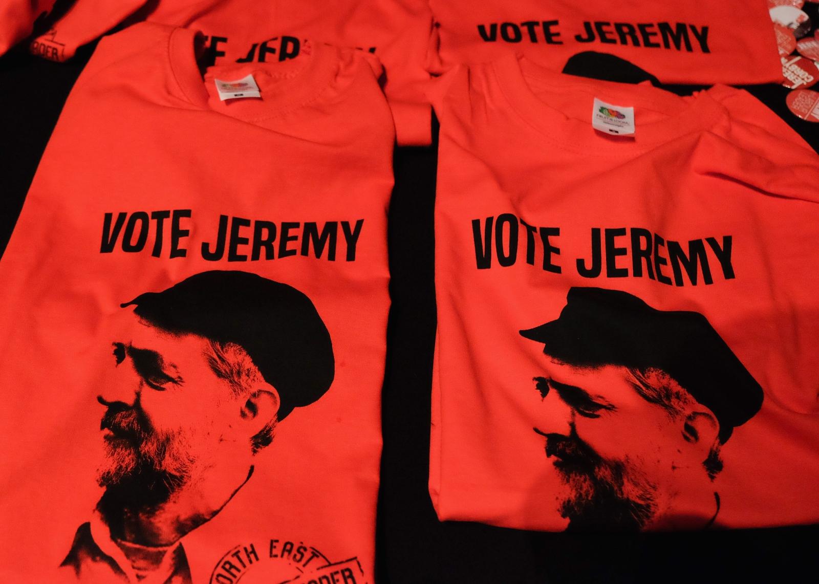Jeremy Corbyn campaign T-shirts