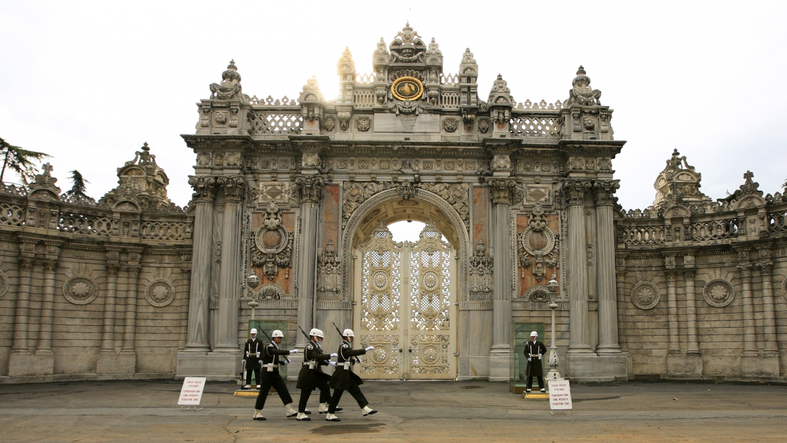 Dolmabahce Palace gunfire Istanbul