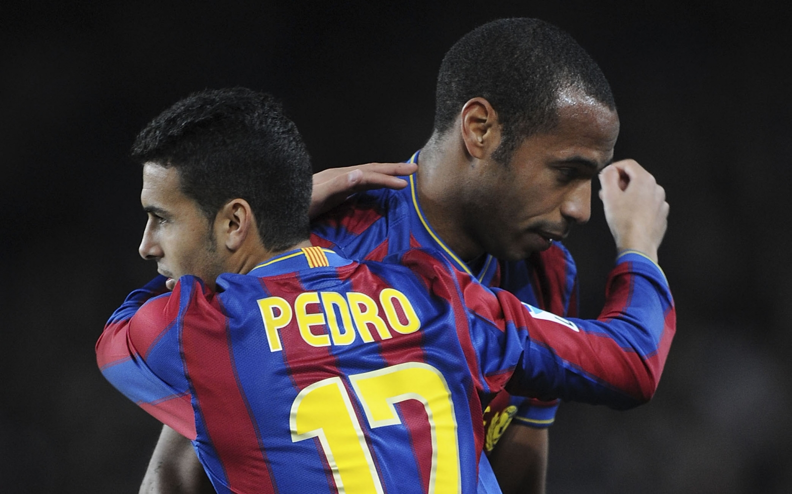 Pedro and Thierry Henry