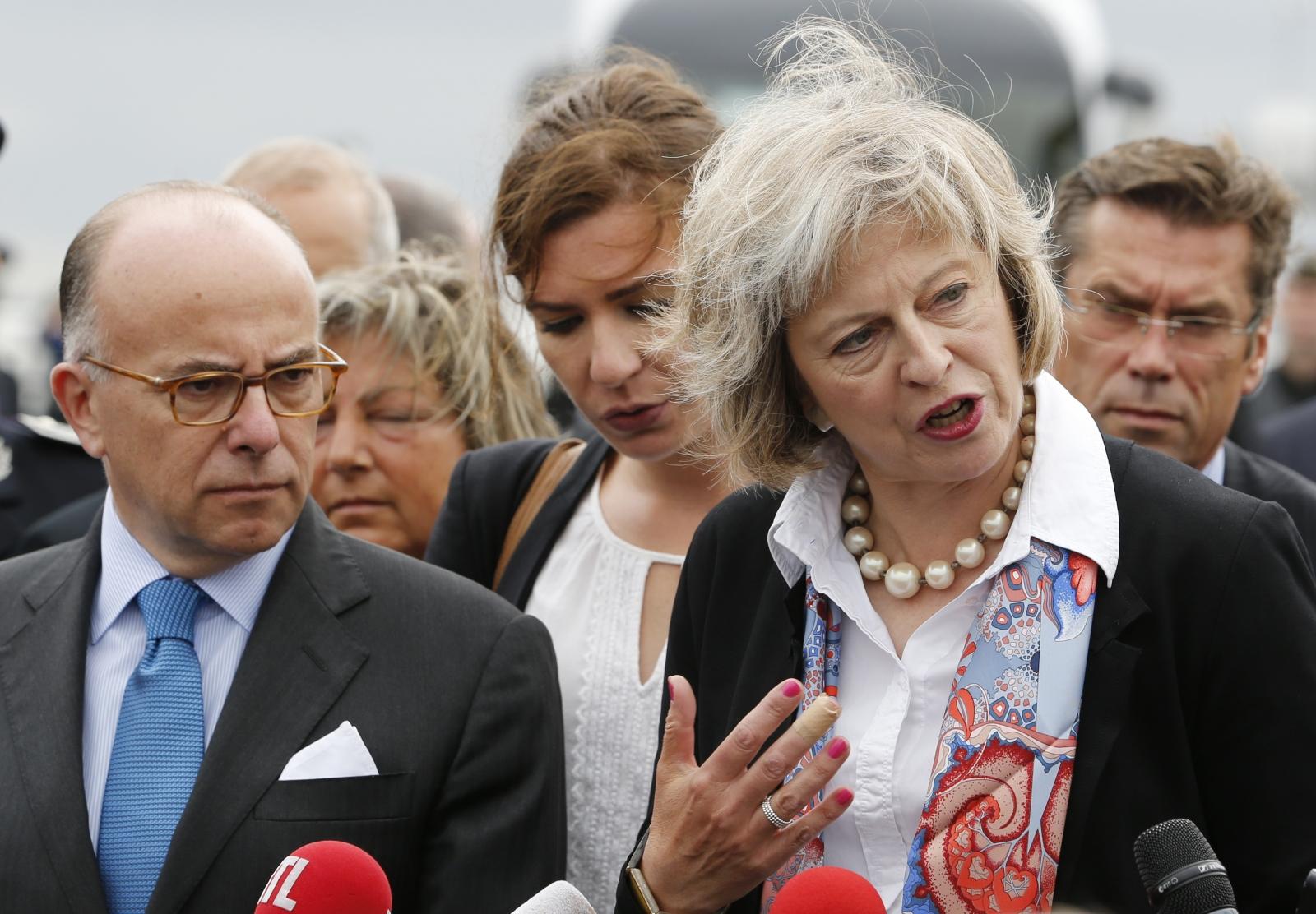 Theresa May in Calais