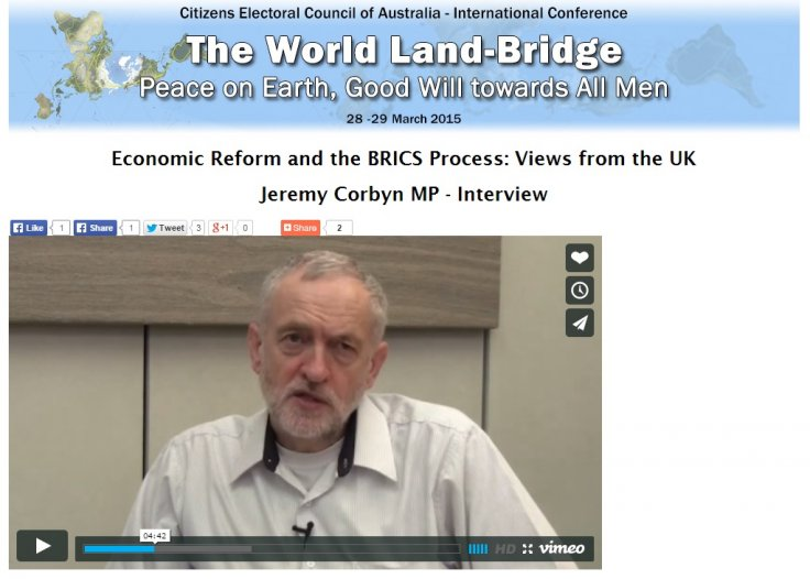 Jeremy Corbyn LaRouche Movement