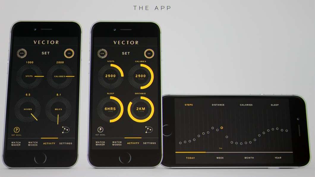 Vector Luna smartwatch iPhone app