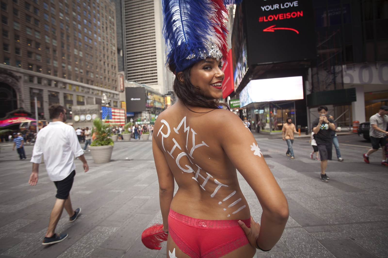 Topless Times Square