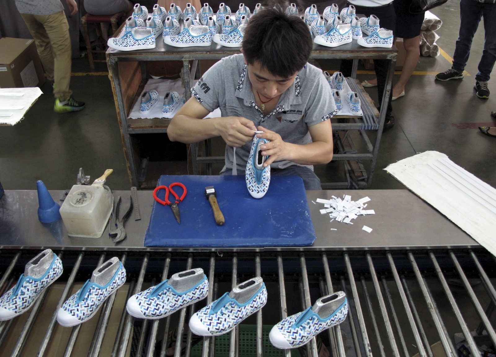 China factory worker