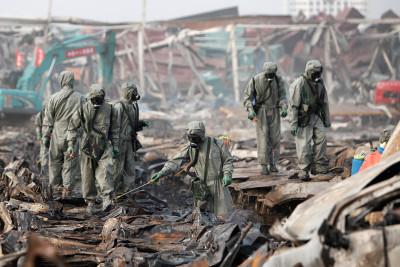 Tianjin explosion dead fish cyanide