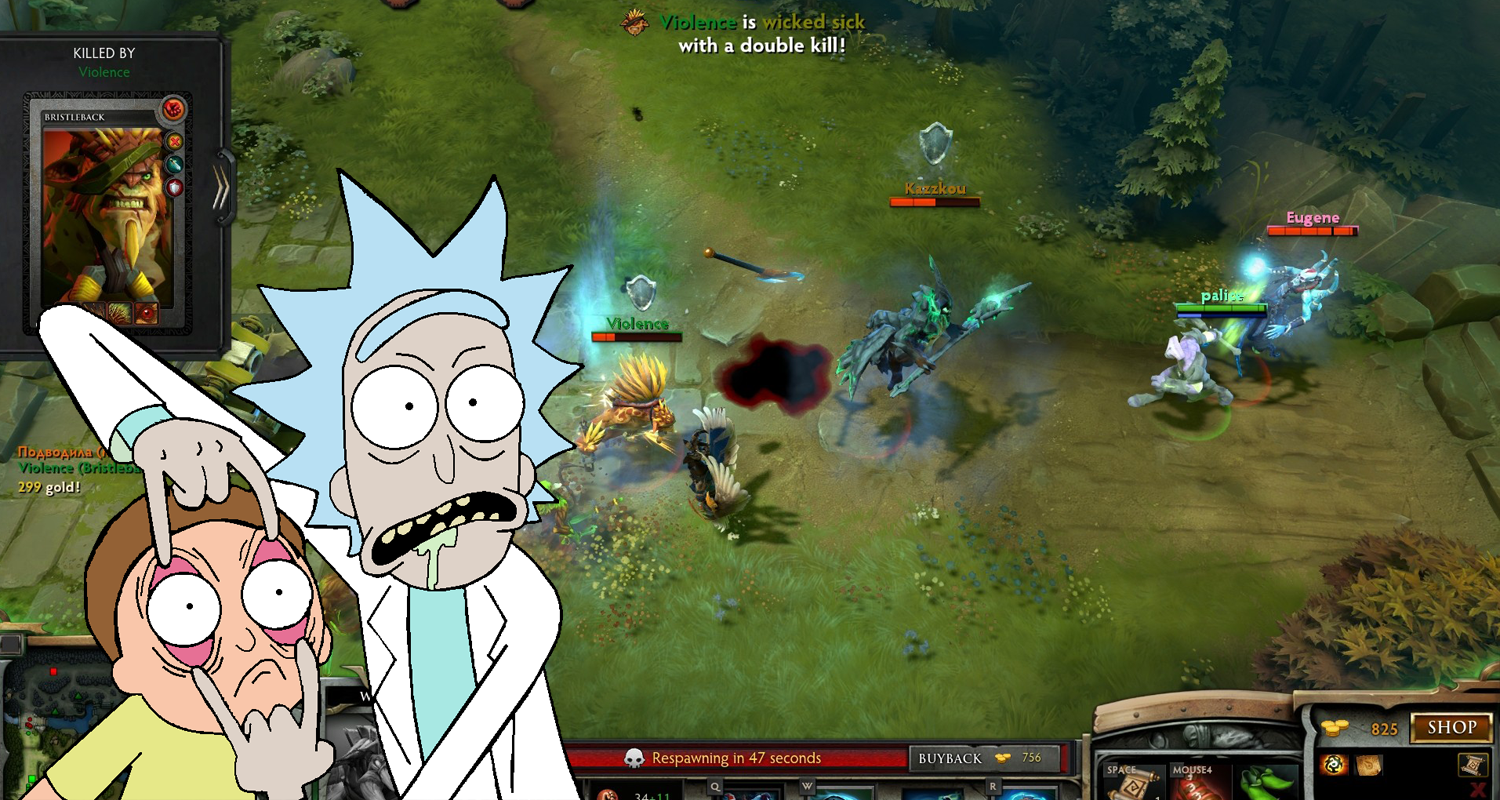 Rick Morty Dota 2 Announcers