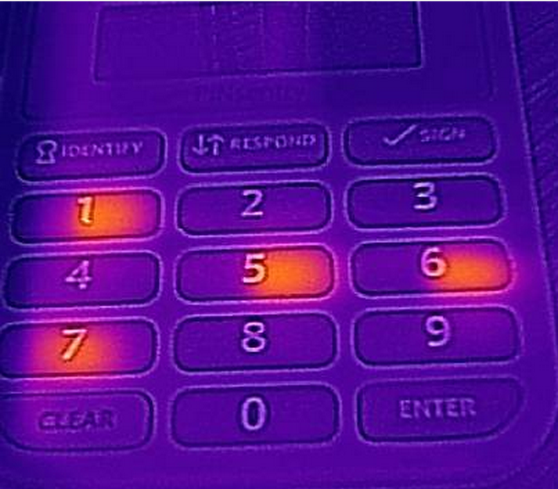 Thermal Imaging Pin Pad at ATM